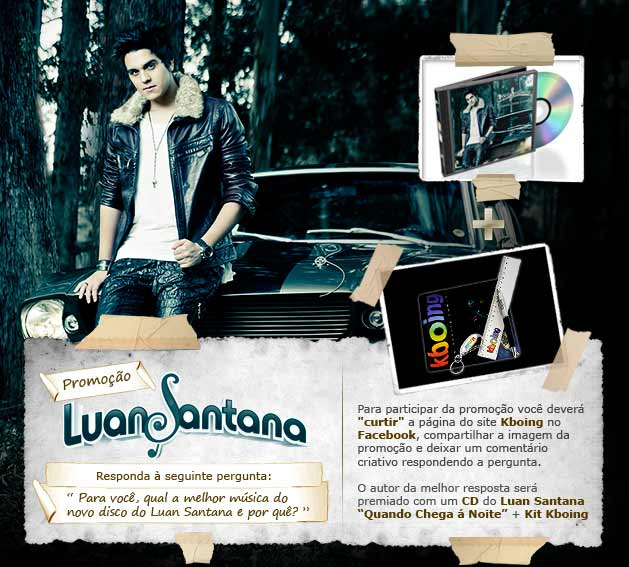 promo&ccedil;o Luan Santana + kit Kboing